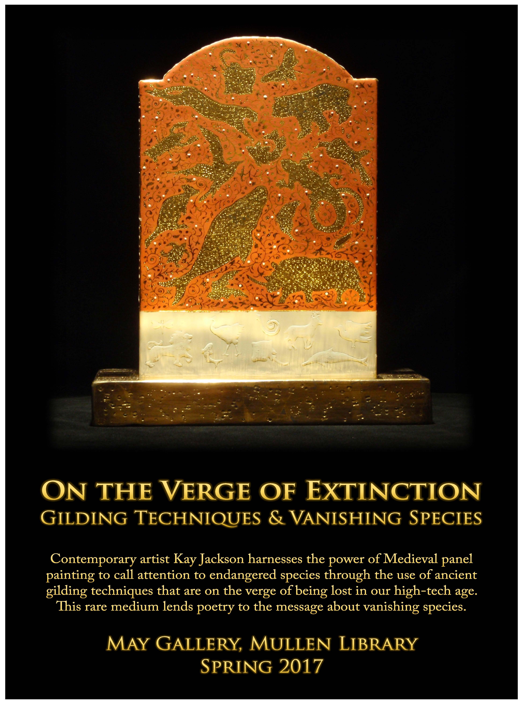 Kay Jackson ay the May Gallery, Mullen Library at Catholic University, Washington, DC